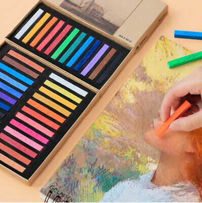 Soft Pastel 24 Colours Chalk Set Full Length Square Stick For Artists Students