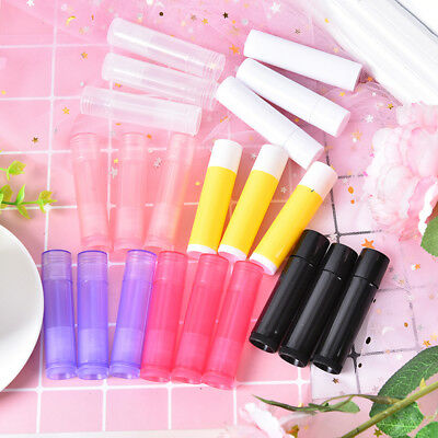 10pcs 5g 7 colors lipstick tube lip balm containers empty cosmetic container— X