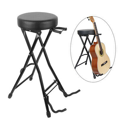 Marvelous 2 In 1 Foldable Guitar Stool Studio Chair Bar Stool Guitar Onthecornerstone Fun Painted Chair Ideas Images Onthecornerstoneorg