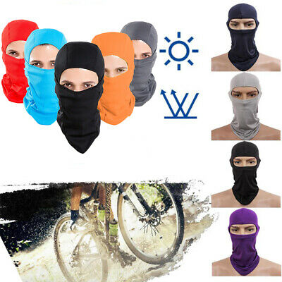 Lycra Balaclava Full Face Mask Outdoor Ski Motorcycle Cycling Neck Ultra Thin