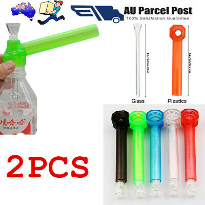 2x Portable Bottle Bong Tobacco Pipe Thread Converter Water Top Puff Hookah