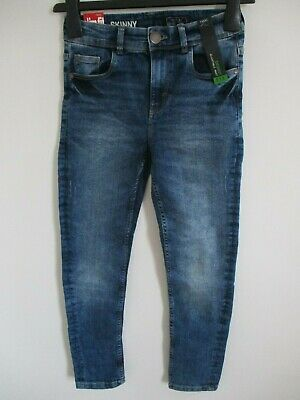 Next Girls Slim Fit Skinny Jeans With Adjustable Waist Blue Age 11 Years/146Cm