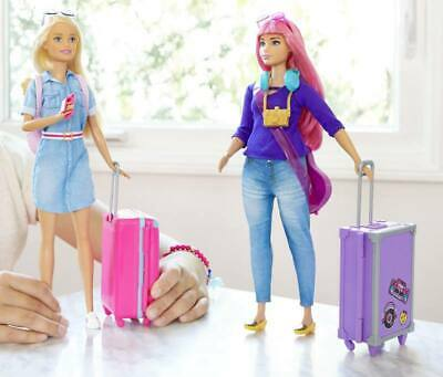 MATTEL Barbie Travel Doll For little girls With Accessories Game For little girl