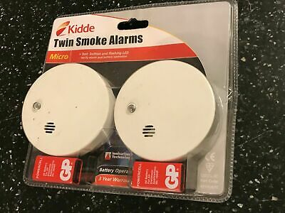 Lifesaver SMOKE ALARM TWIN PACK WITH 2x 9V BATTERY GENERAL / HOME USE