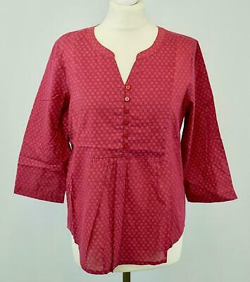 NEW SEASALT Pretty Ladies Deep Red Ditsy Print Woven Top RRP £39 Now £17