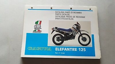 Cagiva Elefantre 125 1986 catalogo ricambi originale moto parts catalogue