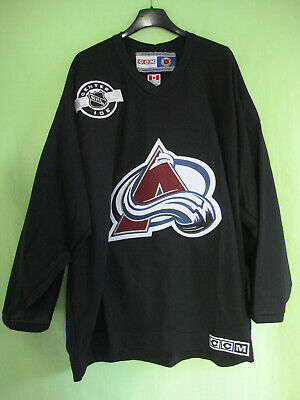 Maillot Hockey Avalanche Colorado Vintage CCM Homme Jersey Ice Shirt Black - L