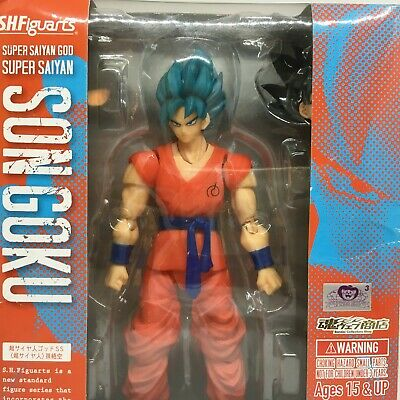 SH Figuarts Super Saiyan God Gokou Goku Blue SSGSS Bandai Dragon Ball ( Opened )