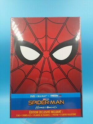 film blu ray neuf coffret edition exclusives spider man homecoming