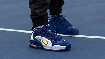 Details about Nike Air Max Penny 1 Pinstripe Royal Blue White Basketball Shoes SZ (AV7948 400)