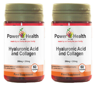 Power Health Hyaluronic Acid 200mg & Collagen 200mg - 2 x 60 caps TWIN PACK