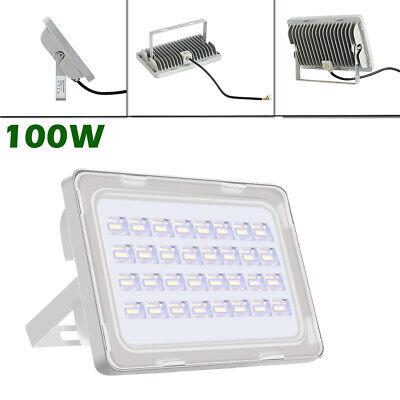 100W Led Floodlight Outdoor Security Cool Waterproof Ip65 Lighting Lamps Uk