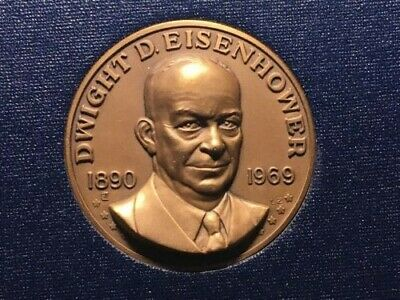 Dwight D. Eisenhower - 1969 Commemorative Set - Bronze Medal - First Day Stamp