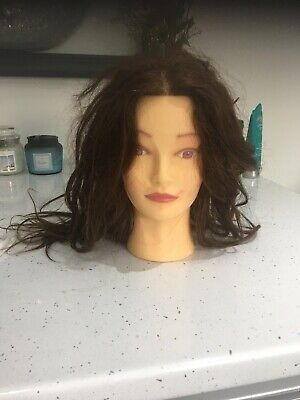 Hairdressing Training Head Brown Hair