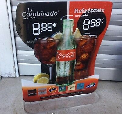 Coca Cola cartel metacrilato combinados mixed drink methacrylate advertisement