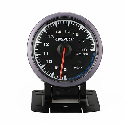 "Universal 2.5"" 60mm Adjustable 7 Color 8-18V Car Auto Voltage Gauge Volt Meter"