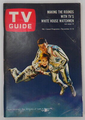 """TV Guide Nov. 6, 1965 ~ June Lockhart, Guy Williams of """"Lost in Space"""" on Cover"""