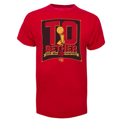 Men's Toronto Raptors TOgether Champions Red Rosters 2019 NBA Basketball T Shirt