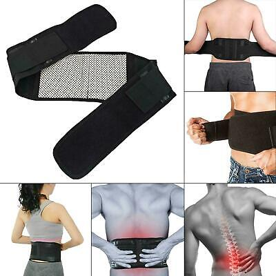 Self Heating Magnetic Back Pain Support Lower Lumbar Brace Belt Strap Magnets
