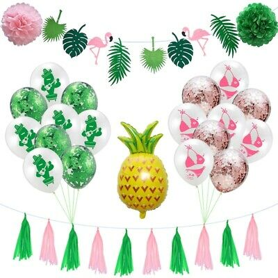 24pcs Confetti Latex Balloons Hawaiian Party Decorations Birthday Party Supplies