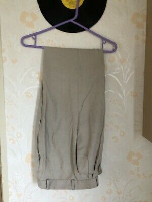 Mens 1950s White Pegs Trousers