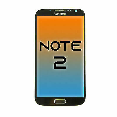 New OEM Samsung Galaxy Note 2 LCD Touch Screen Display Assembly Replacement Gray