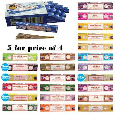 Satya Genuine Nag Champa Incense Sticks Joss 15g From 0.99p mixed scents