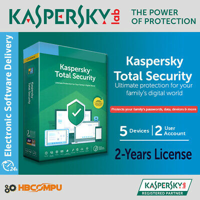 Kaspersky Total Security 5 Devices | 2019 | 2 Years | Download | Code Key Only