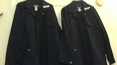 New Bulwark Flame-Resistant Safety Coveralls ( 48-Rg )  Lot of 2 Blue W / O Tags
