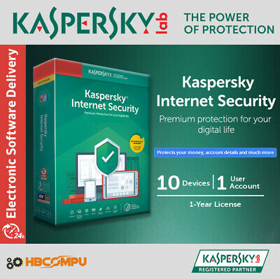 Kaspersky Internet Security 10 Devices | 2019 | 1 Year | Download | Key Only
