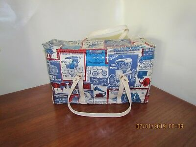 Rare ~ Thermo Serv ~ Yesteryear ~ Insulated Cooler Picnic Bag ~ NOS ~