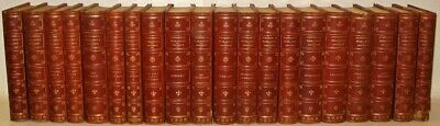 LEATHER Set;Works of AINSWORTH!Charles Dickens Cruikshank Complete (1898!) RARE!