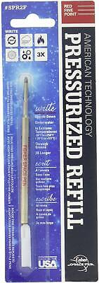 3 Pack Fisher Space Pen Red Ink Refills SPR2F Fine Tip