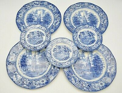 Staffordshire Ironstone Liberty Blue Monticello Independence Dinner Salad Plate