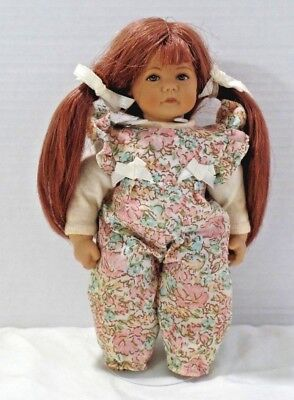 "HEIDI OTT 8"" Little Ones doll - with long red pigtails, brown eyes and freckles"