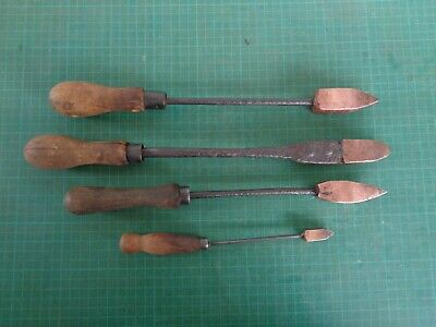 Vintage soldering irons x4, various sizes, copper ends