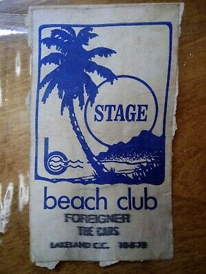 Vintage 1978 Foreigner And The Cars Rock Music concert Stage Pass. Lakeland FL.
