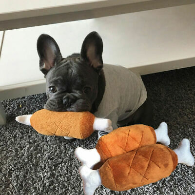 Pet Dog Puppy Toys Chicken Legs Design Small Dogs Chew Squeak Plush Sound Toy