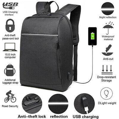 Large Capacity USB Load 15.6 Inch Laptop Backpack Anti-theft Travel Business Bag