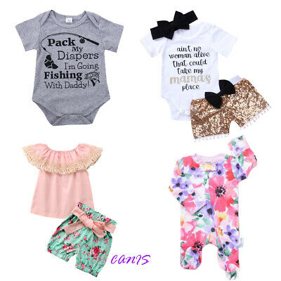 AU Infant Baby Girl Flower Romper Cute Jumpsuit Outfits High Quality Jumpsuit