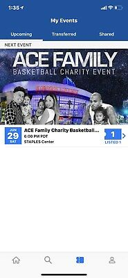 ACE Family Basketball Charity Event Ticket Staples Center June 29 (I WILL EMAIL)