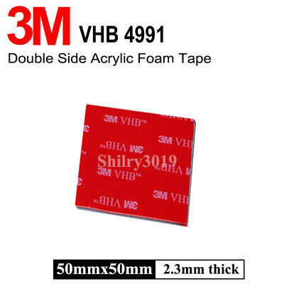 3M VHB 50mm x 50mm 2.3mm Thick Grey Pad Double Coated Tissue Adhesive Tape Best