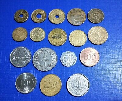 Lebanon 17 different coin types 1/2 Piastre - 500 Livres West Asia / Middle East