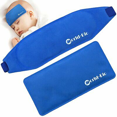 Kids Gel Ice Packs First Aid Hot Cold Compress Baby Kids Child Reusable Fever