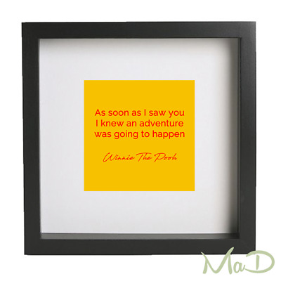 As soon as I saw you......... Winnie the Pooh Quote Box Frame.