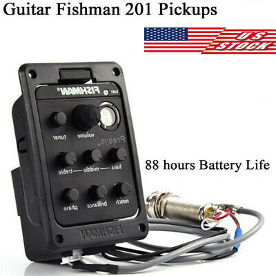 US FISHMAN ISYS Acoustic Guitar Pickup Piezo onboard Preamps EQ Tuner Equalizer