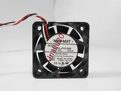 NMB 1604KL-01W-B59 fan 40*40*10mm 5V 0.21A 3pin #M709 QL KC2