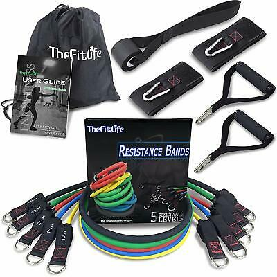 TheFitLife Exercise & Resistance Bands Set - Workout Tubes for Indoor & Outdoor