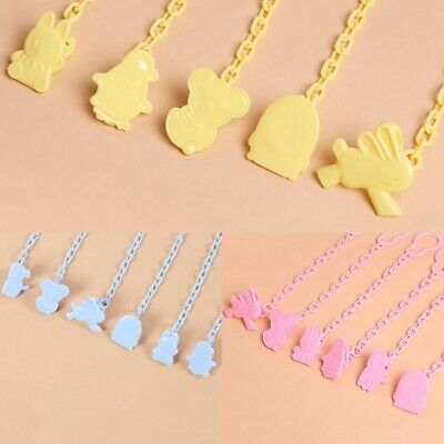 Baby Infant Dummy Pacifier Soother Plastic Chain Clip Holder Funny Animals Good~