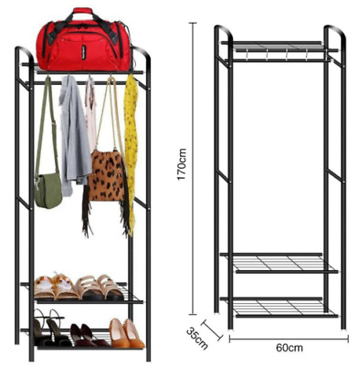 Clothes Rail Rack Garment Dress Hanging Displays Stand Shoe Rack Storage Shelf